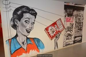 street art bilbiothèque Lyon Part Dieu