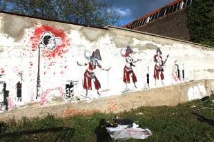 Performance street art - festival Passeur'elles - Roanne 2014