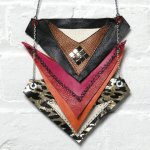 trilateral necklace by Junkprints