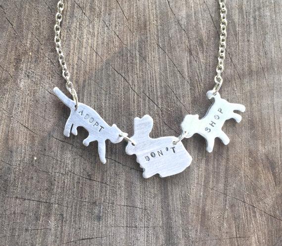 Adopt don't shop Necklace
