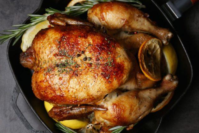 مرغ در کوره در سس تریاکی
