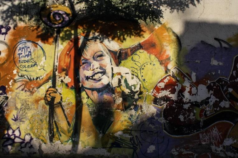 Das Mural von El Niño de las Pinturas zeigt Pippi Langstrumpf