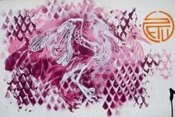 Vogel in Pink von Stew
