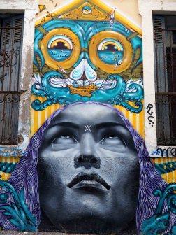 Mural mit Frauenkopf