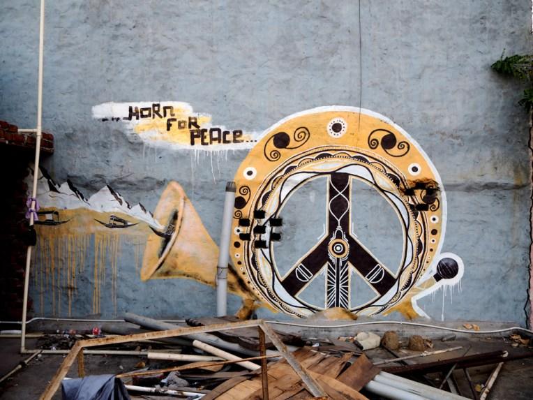 Hupe für den Frieden