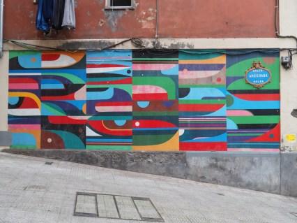 geometrische stark farbige Muster
