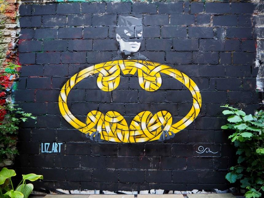 Badman-Logo mit Catwoman