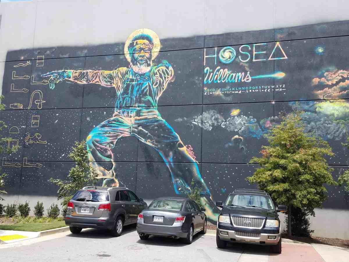 Mural of Hosea Williams by artist Fabian Williams in Old Fourth Ward Atlanta