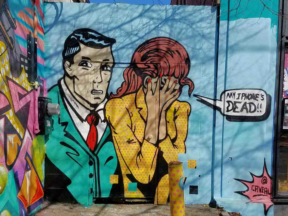 Pop art style mural by artist Chris Veal in Little Five Points