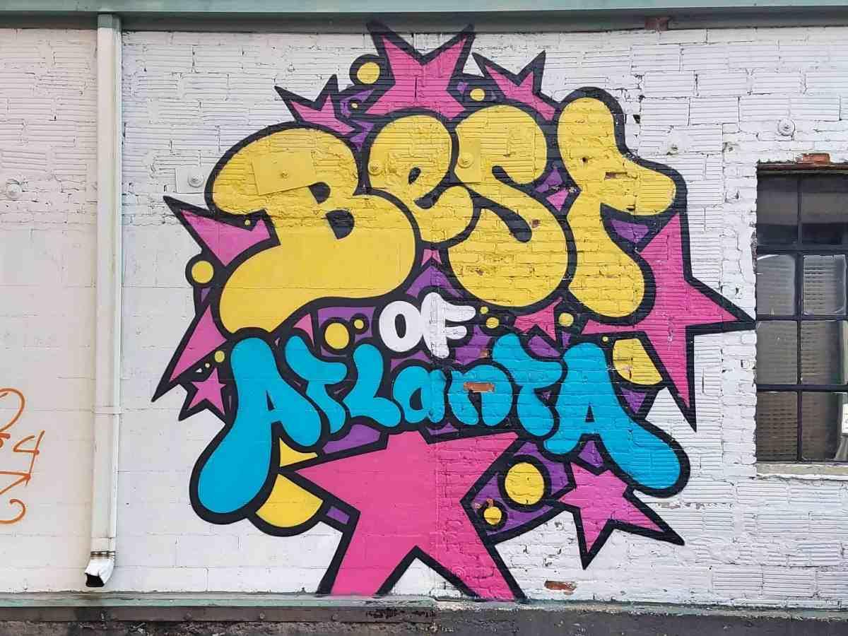 "street art featured on the ""Best of Atlanta"" issue of Atlanta Magazine by artist Peter Ferrari"