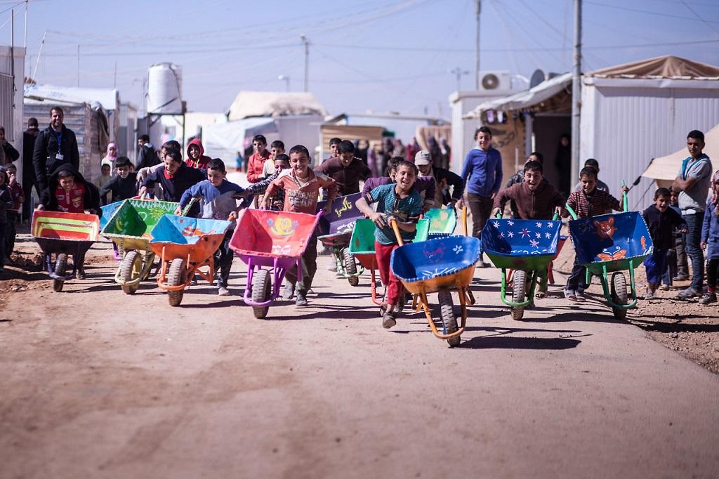 Herakut at Zaatari, Jordan 14