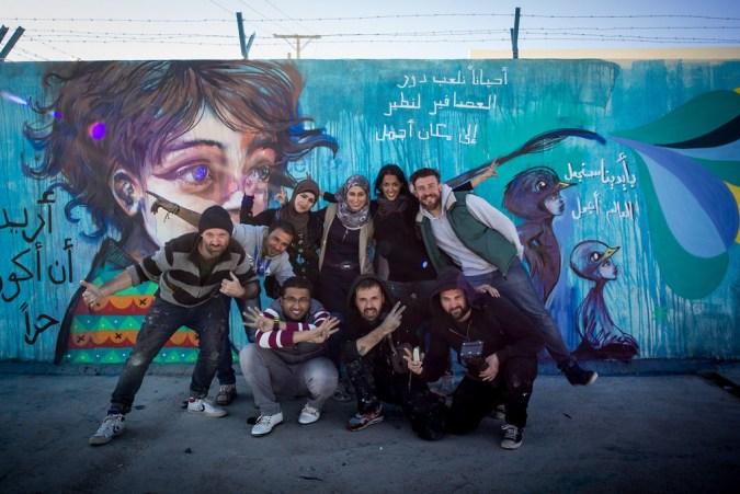 Herakut at Zaatari, Jordan 8