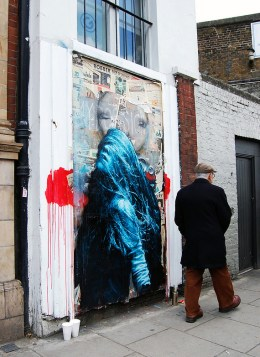 This is letting go, 7 layer handcut stencil and spraypaint. Westbourne Grove, Notting Hill photo by Marc Laroche