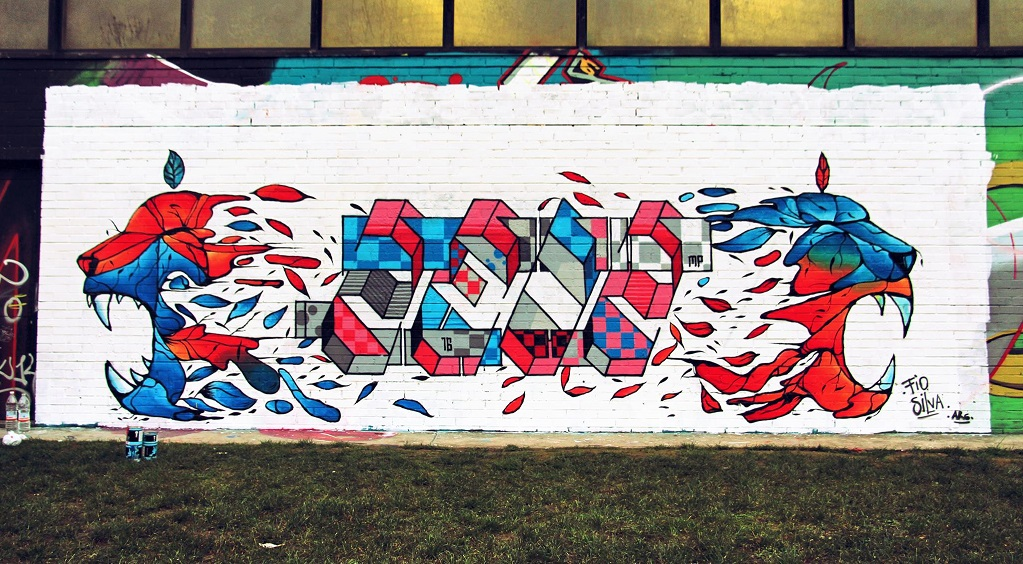Fio Silva collaboration with Zedz in Italy. © Zedz