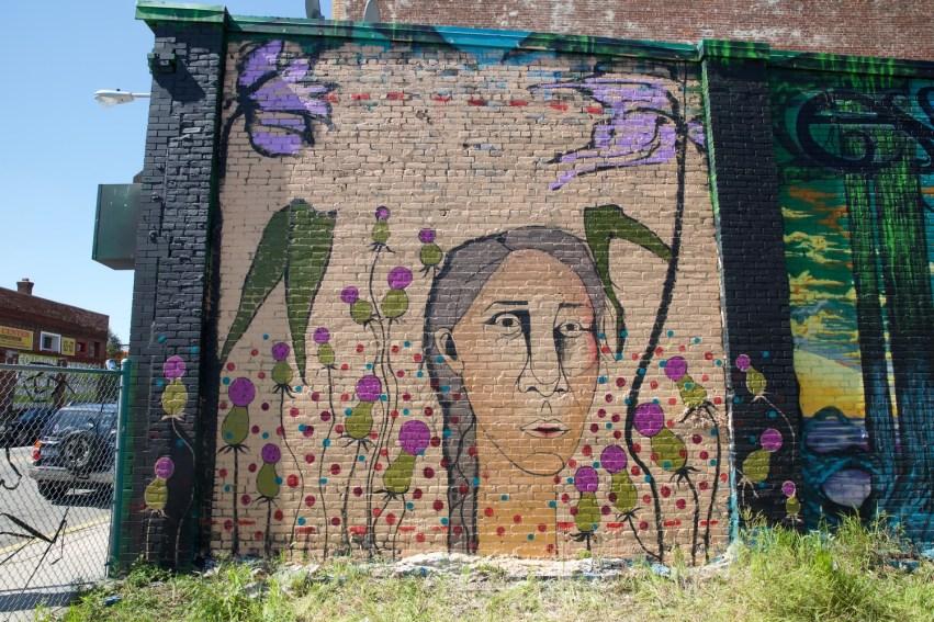 Jennifer Caviola's wall aka Cake depicting the face of jailed Iranian Baha'i poetess and educator Mahvash Sabet