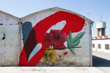 Giulio Vesprini paints in an Old Italian Prison Camp
