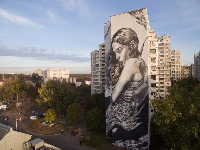 """Shelter"" by Paola Delfin for ArtUnitedUs in Kiev"