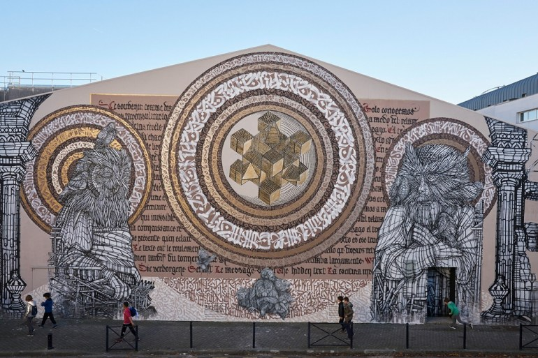 Monkey Bird & Said Dokins Go big in a New Mural in Bordeaux