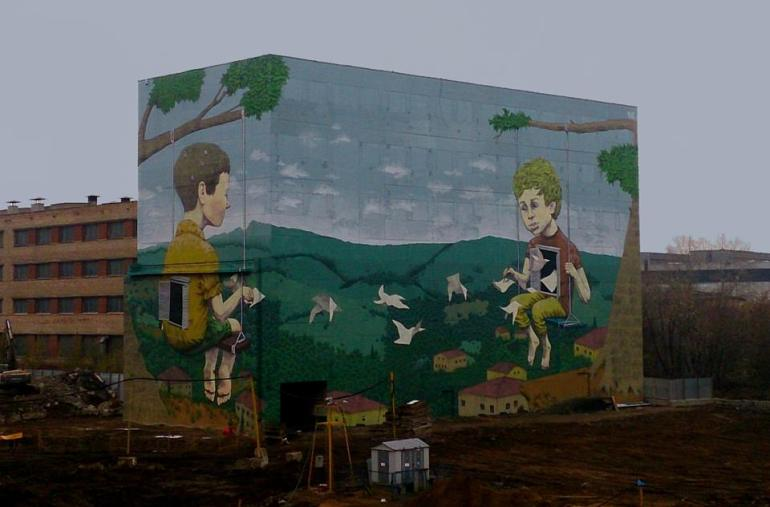 Rustam Qbic New murals in Moscow