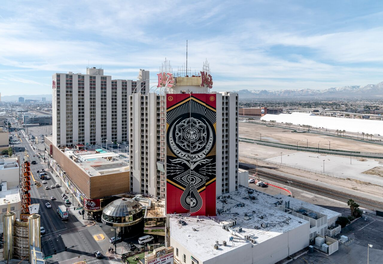 Justkids Unveils 2 Colossal Murals By Shapard Fairey Dface In Las