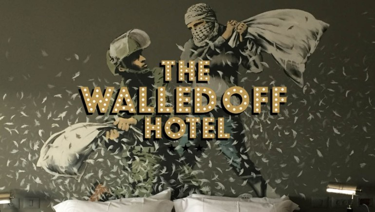 "Banksy's ""Walled Off Hotel"" in Bethlehem"