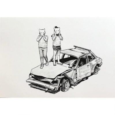 Sobre Peugeot - Pen on white paper