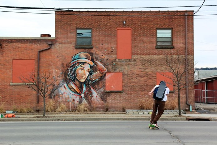 Street Art by Alice in Ithaca, New York, USA 1
