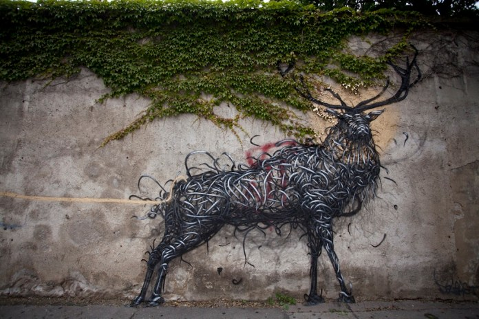 Street Art by DALeast -'一', In Vienna, Austria 1