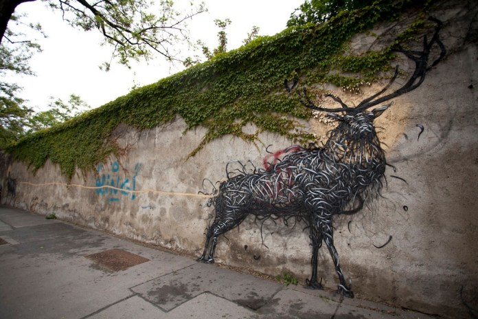 Street Art by DALeast -'一', In Vienna, Austria 5