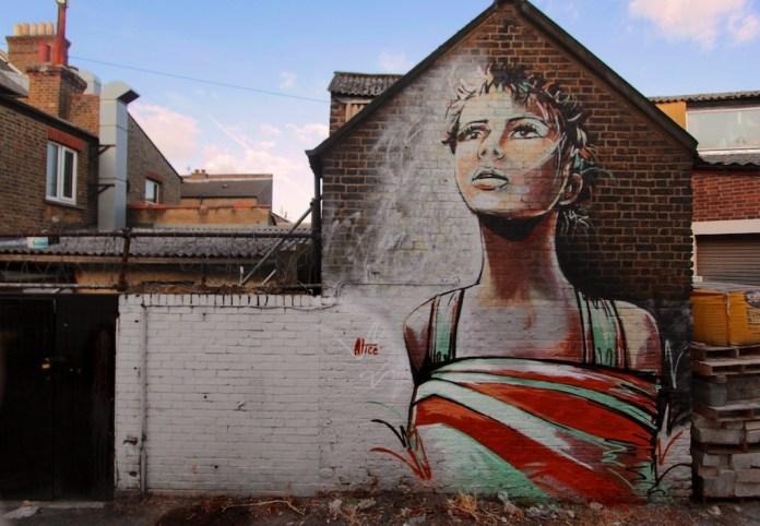 Street Art by Alice Pasquini in Sydenham, London, UK