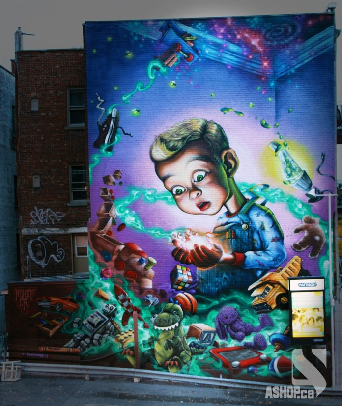 Street Art by A'shop in Montreal, Quebec 1