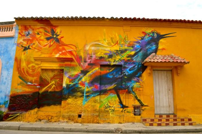 Graffiti by Yurika in Cartagena, Colombia 1