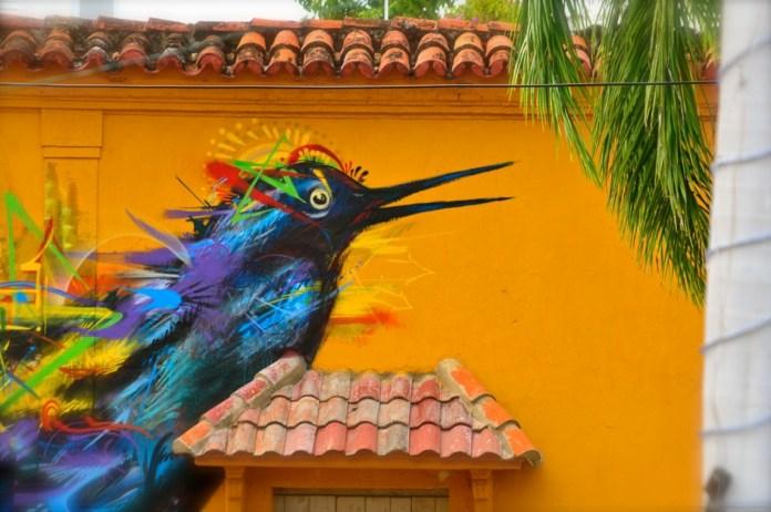 Graffiti by Yurika in Cartagena, Colombia 2