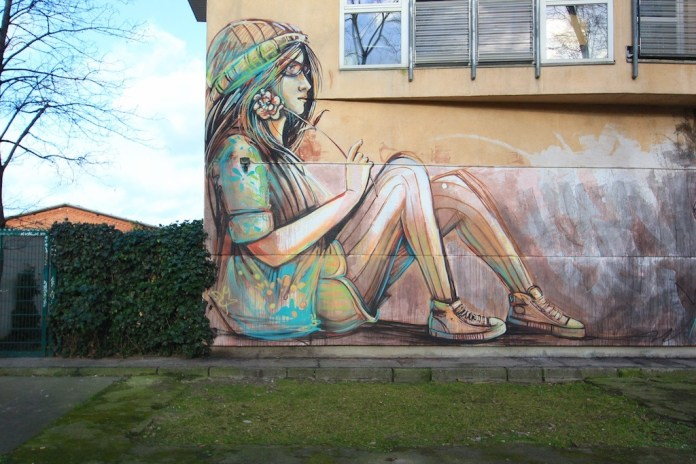 Street Art by Alice Pasquini in Berlin, Germany 1