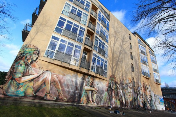 Street Art by Alice Pasquini in Berlin, Germany 2