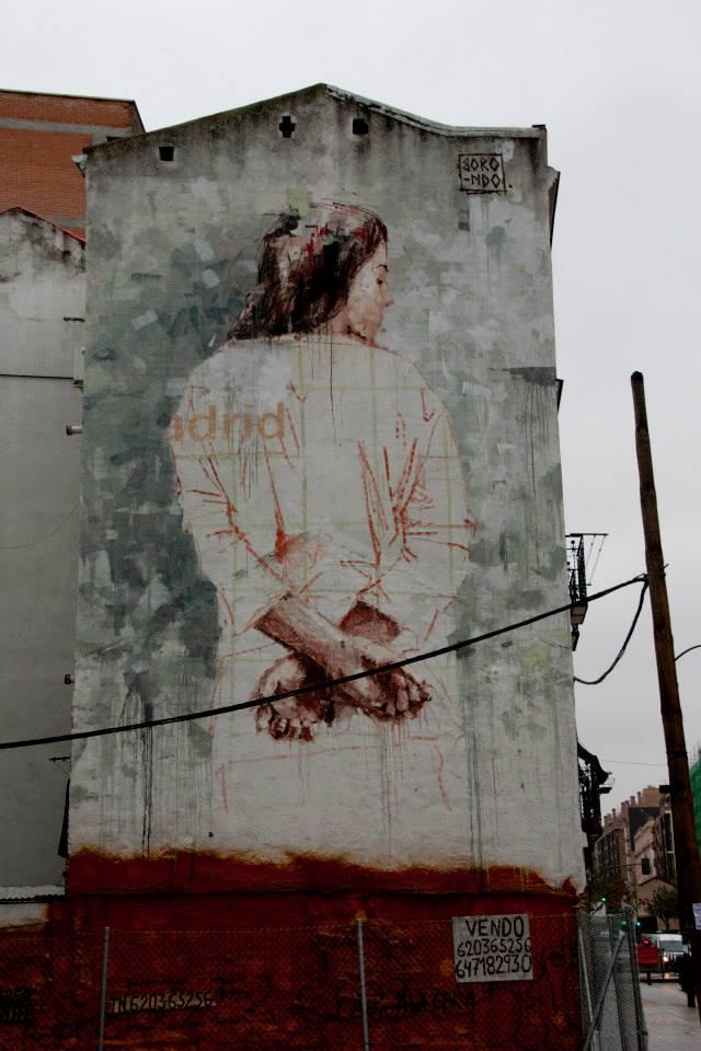 Street Art by Borondo in Tetuan, Madrid, Italy 2