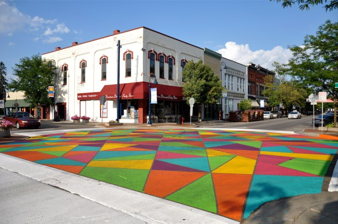Street Art at Broadway Street, Detroit, Michigan, USA