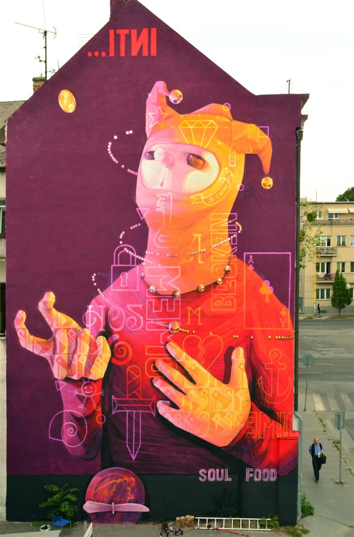 Street Art by INTI in Kosice, Slovakia