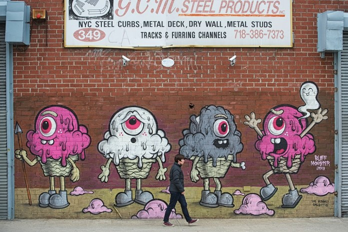 Street Art by Buff Monster in Brooklyn, New York, USA