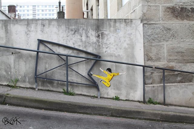 Street Art by Oakoak in Saint Etienne, France