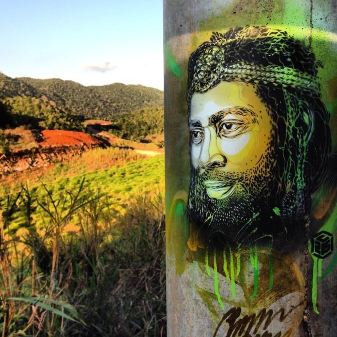 Street Art by C215 in Nine Mile, Jamaica 7