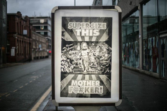 Brandalism - In Manchester. By Ron English