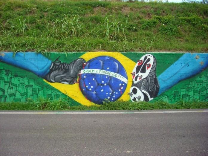 Street Art FIFA World Cup in Rio de Janeiro, Brazil 545643577456