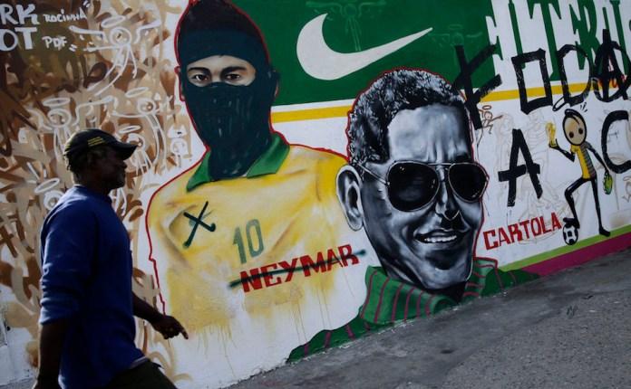Brazil WCup Soccer Graffiti