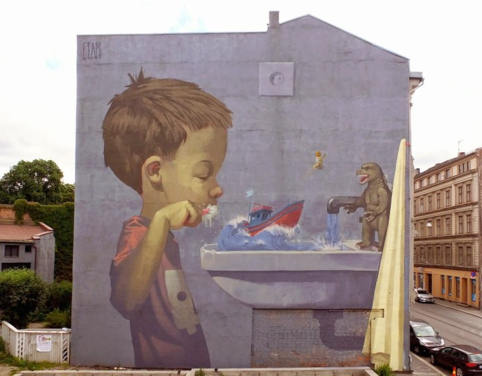 Street Art by Etam Cru in Oslo, Norway