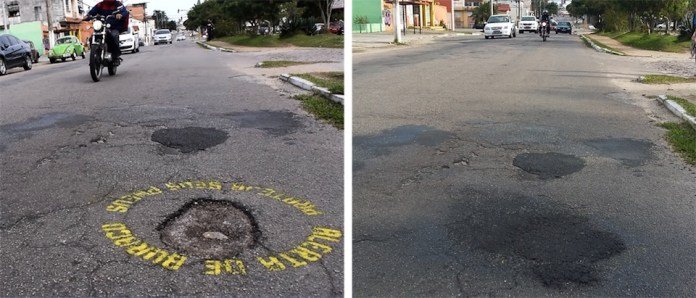 Hole Alert - Protect your tires. In Brazil 2