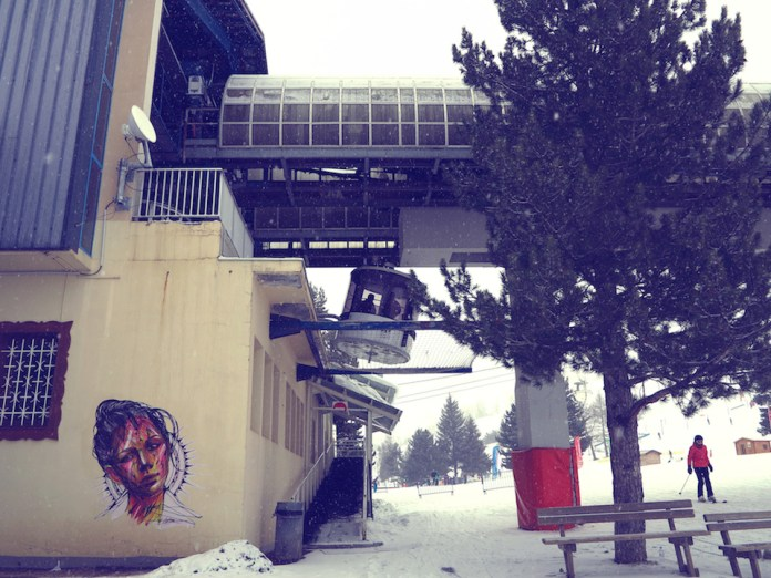 Street Art by Hopare in Les 2 Alpes, France 2