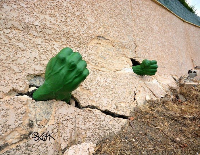 Street Art by Oakoak - Hulk