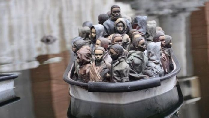 Street Art by Banksy and other artists in London, England - Dismaland 18