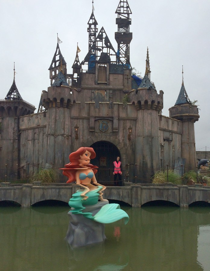 Street Art by Banksy and other artists in London, England - Dismaland 2